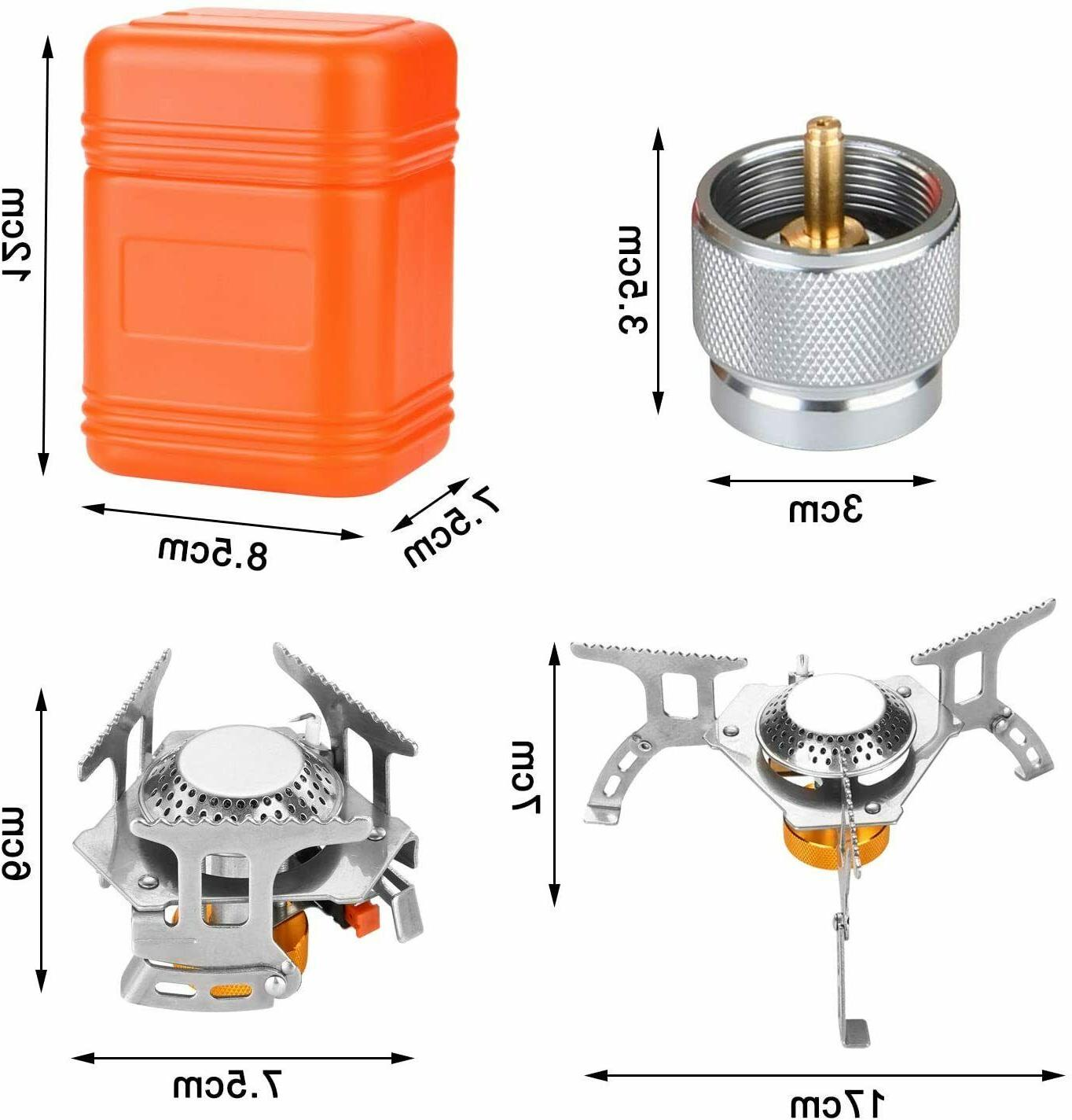 3700W Backpacking Gas Stove Ignition, Burner,