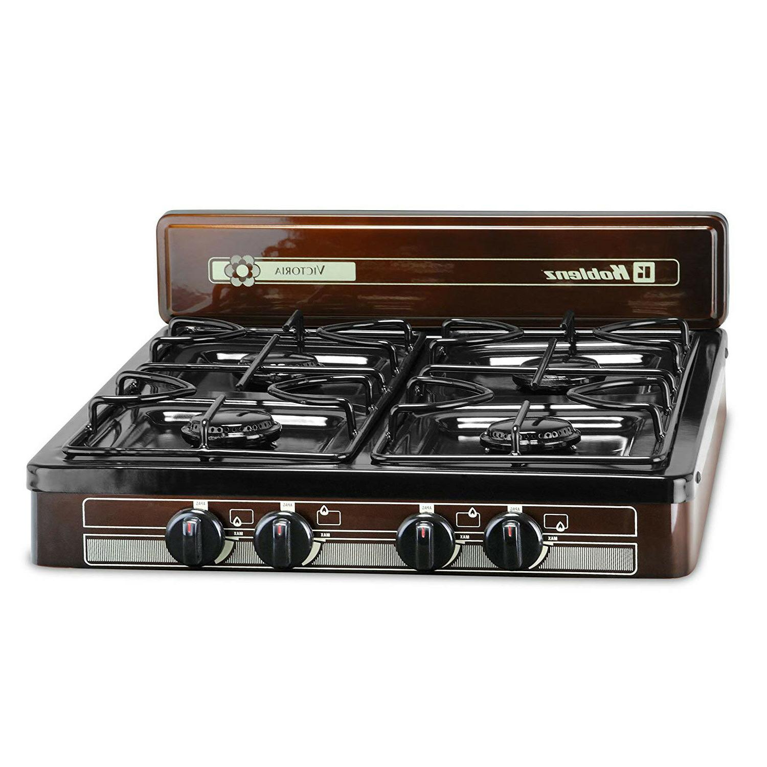 4-Burner Portable Stove Outdoor Camping RV Kitchen Cooktop