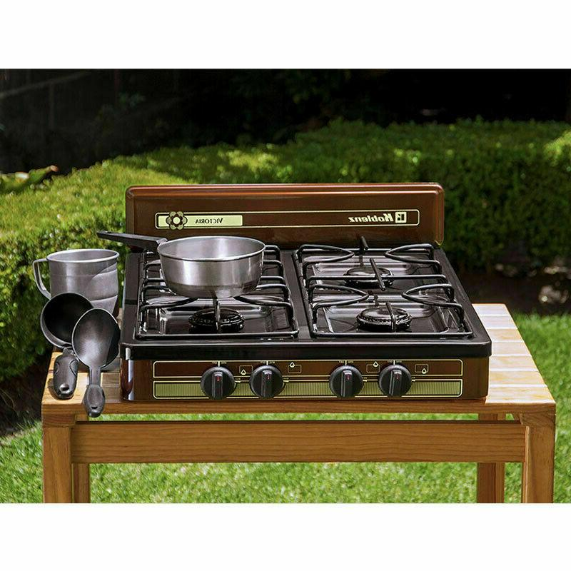 4 burner propane gas cooktop stove portable