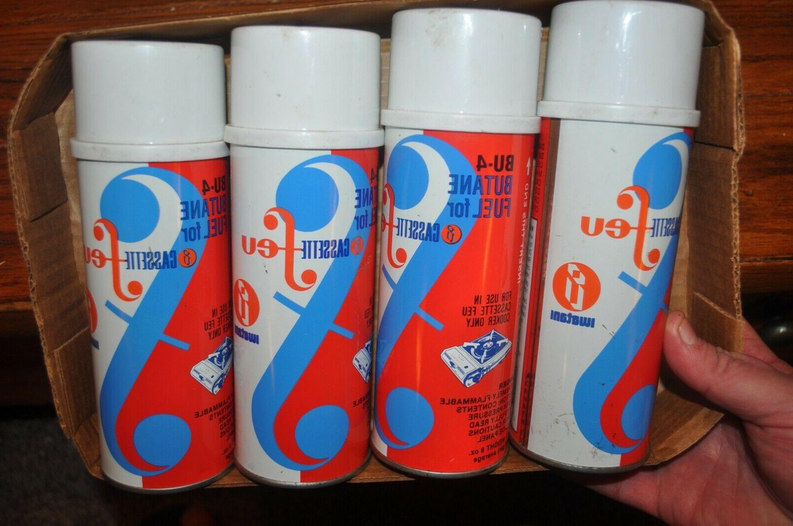 4 cassette feu butane fuel gas canisters
