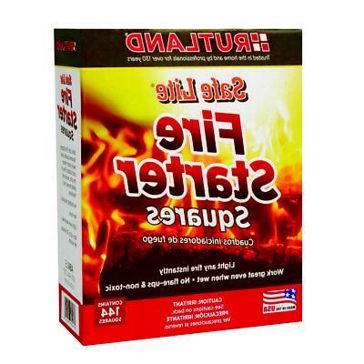 Rutland 50B Safe Lite Fire Starter Squares 144 Squares 1