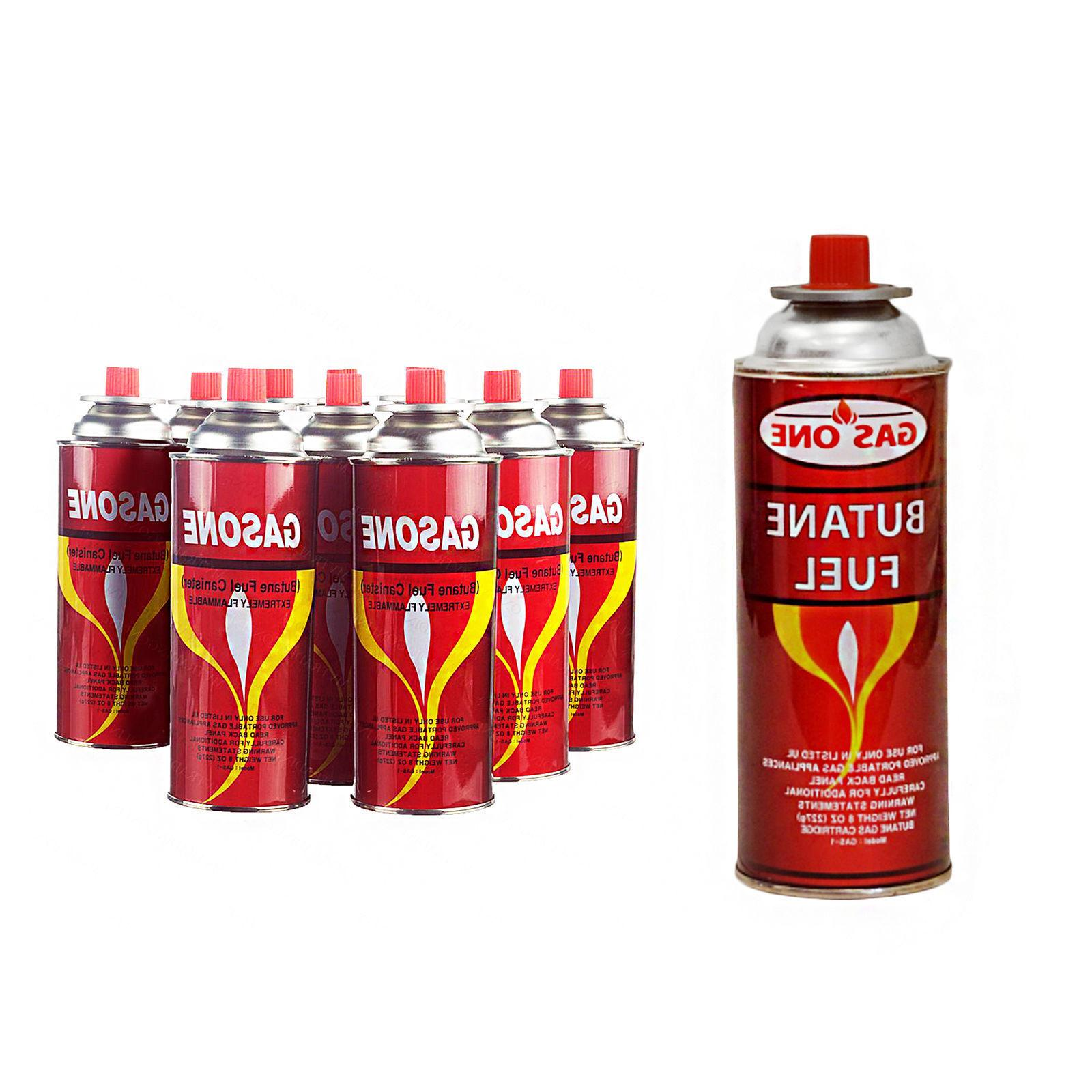 8 cans butane gas fuel canister 8oz