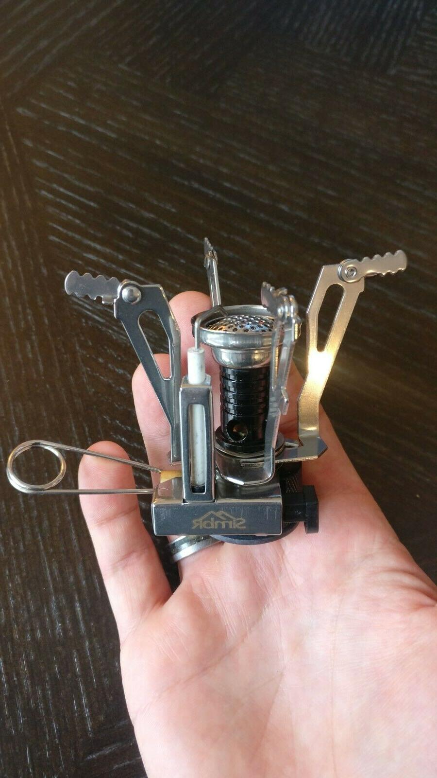 SIMBR Backpacking Camping Ultralight Stove with Piezo Ignition
