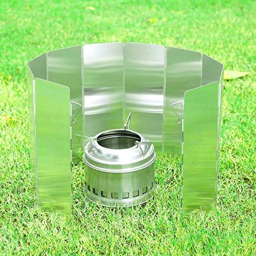 Ohuhu Camp - Plates Camping Cooker Stove Wind Screen