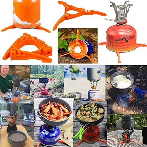 Bisgear Cookware Carabiner Stand Tripod Folding Set Backpacking Cooking Picnic Knife Spoon