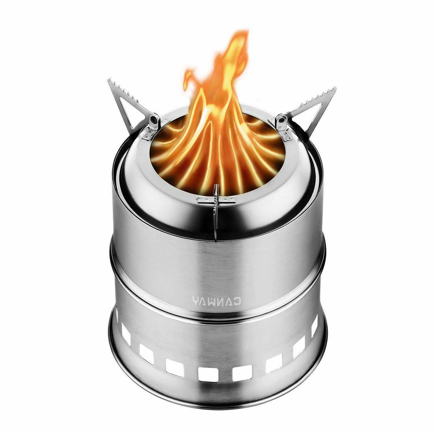 camping stove portable stainless steel wood burning