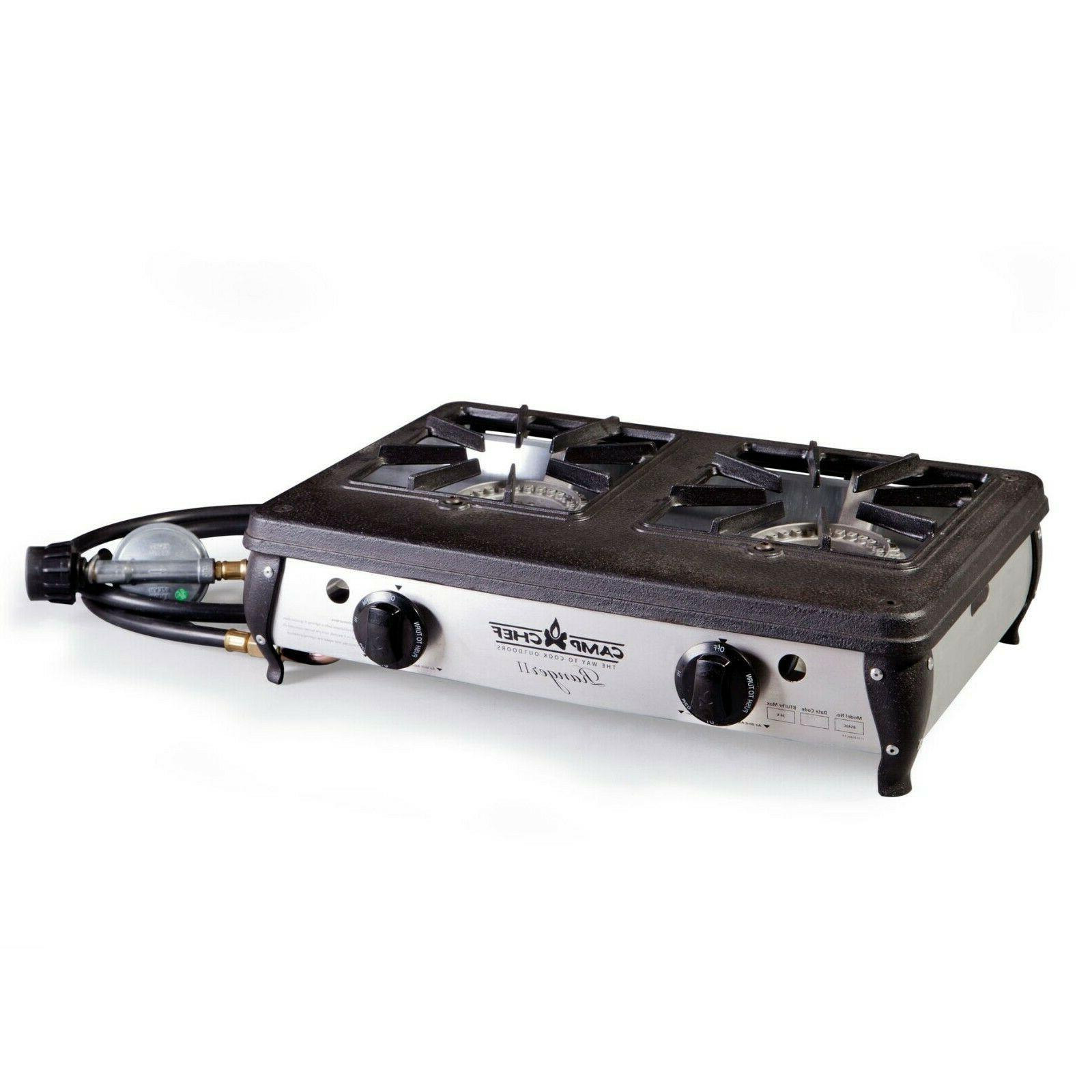 Camp Chef Ranger II Portable Outdoor Camping Camp 2 Burner P