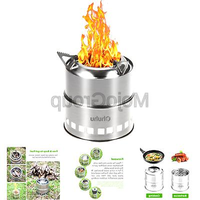 camping stove stainless steel backpacking stove potable