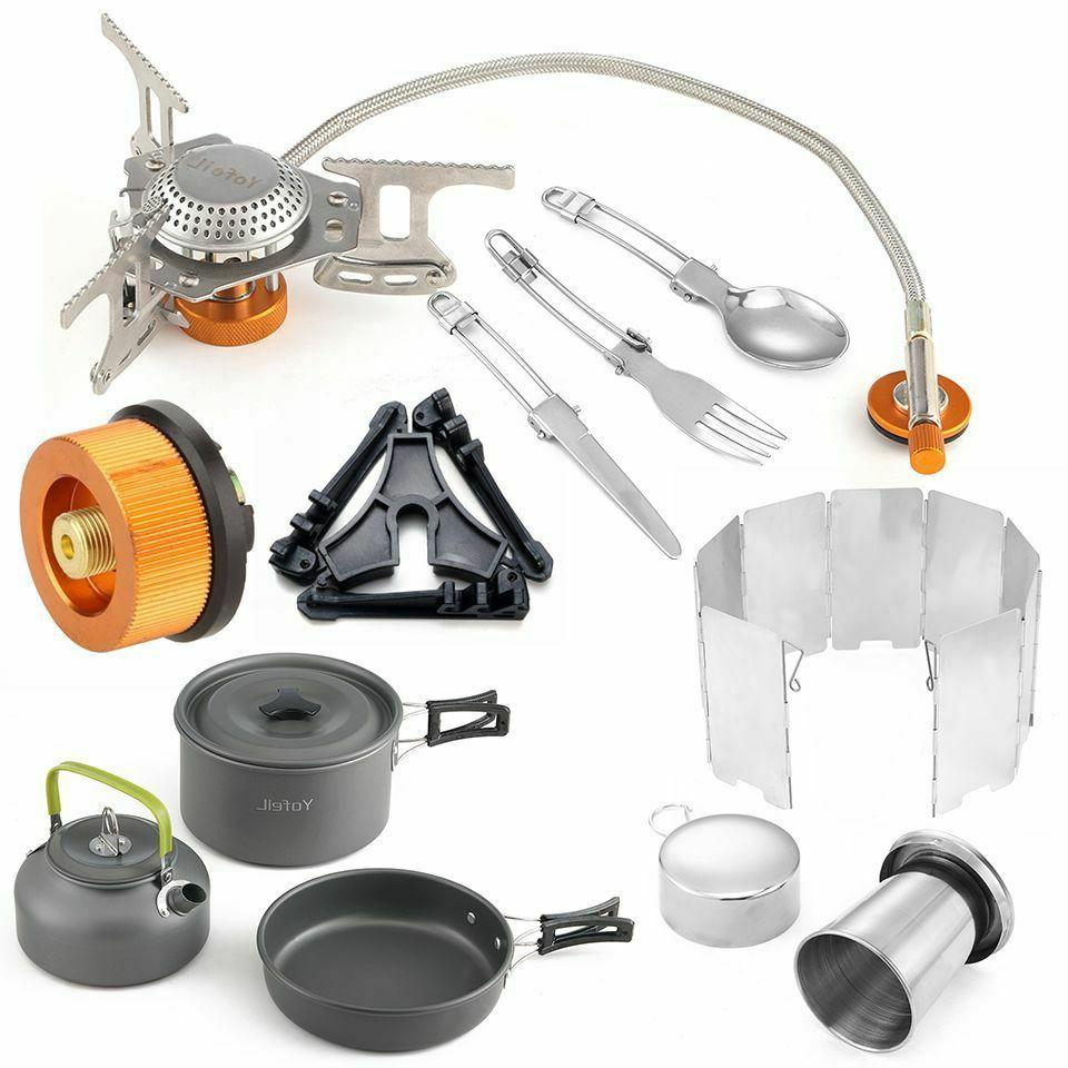 cooking sets camping stoves stainless ultralight gas