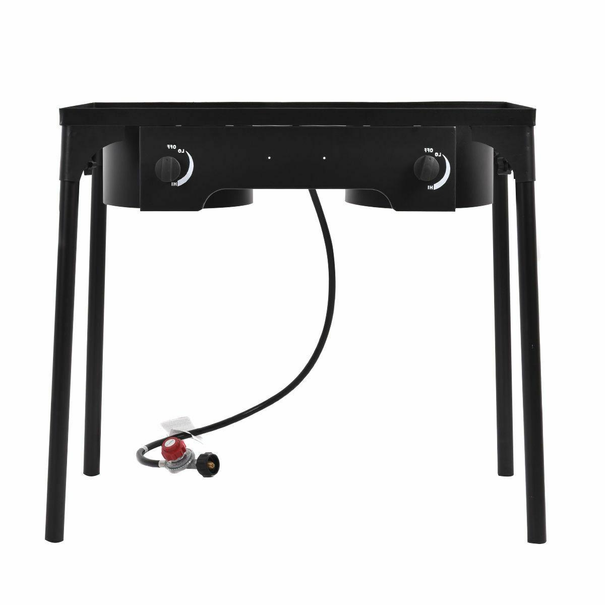 Double Gas Cooker Stove Stand BBQ