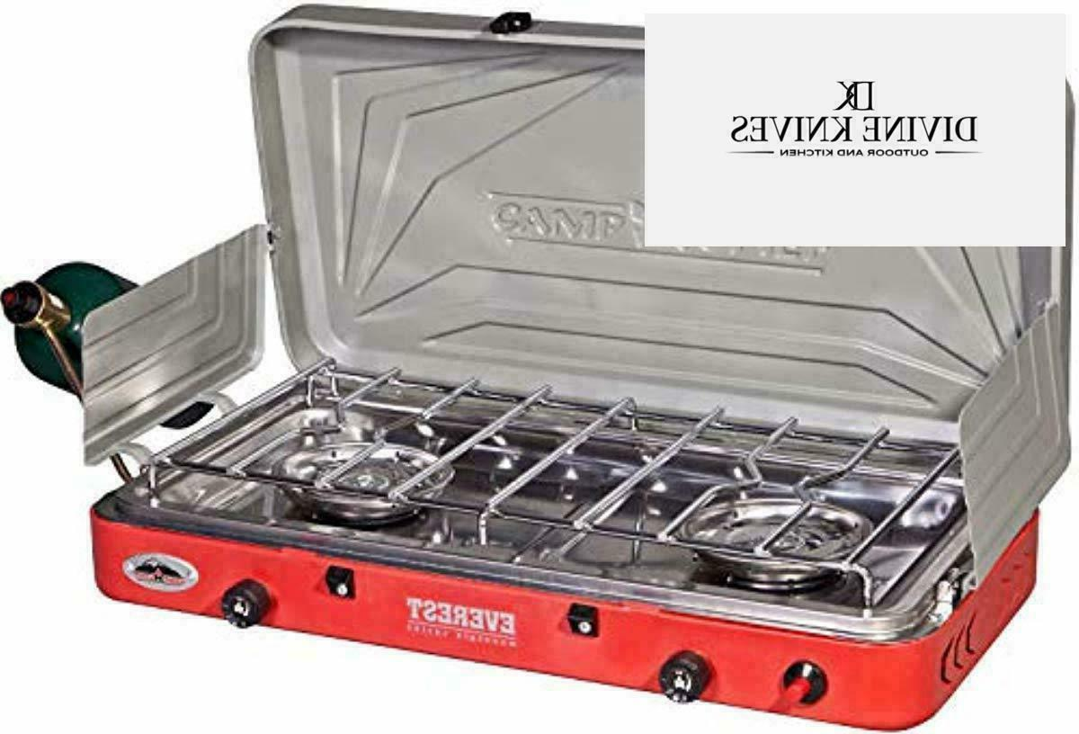everest 2 burner stove new in box