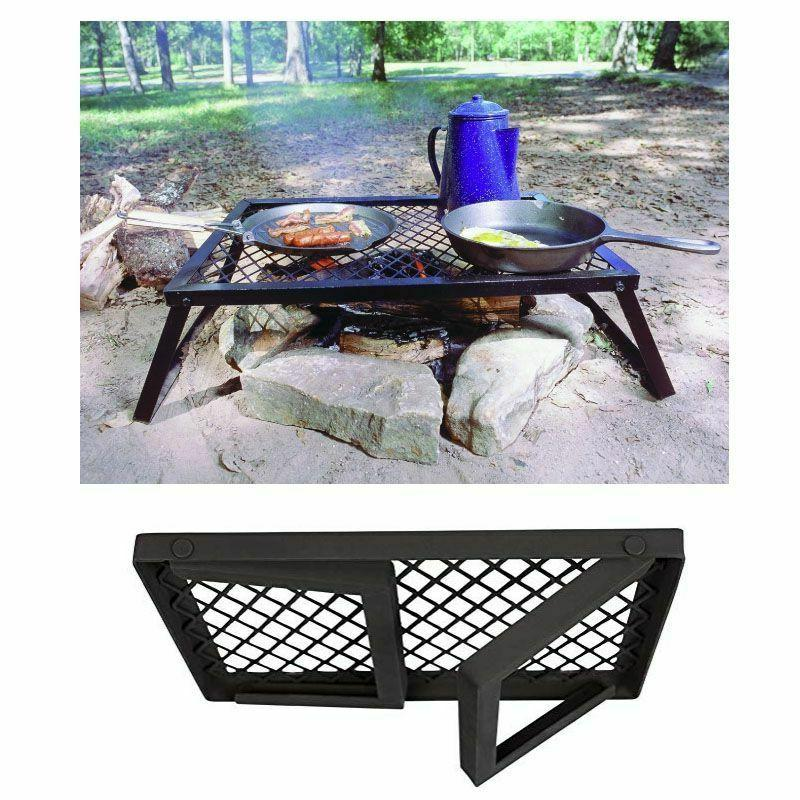Foldable Grills Black Metal Stability Stand Cooking Outdoor