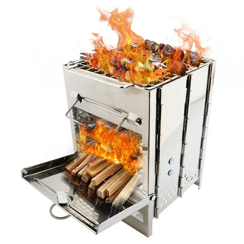 Burning Backpacking BBQ Grill