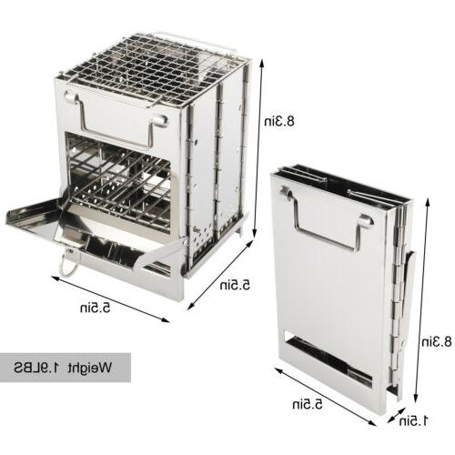Folding Stove, Stainless Steel Wood Camp