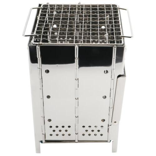 Folding Stove, Stainless Wood