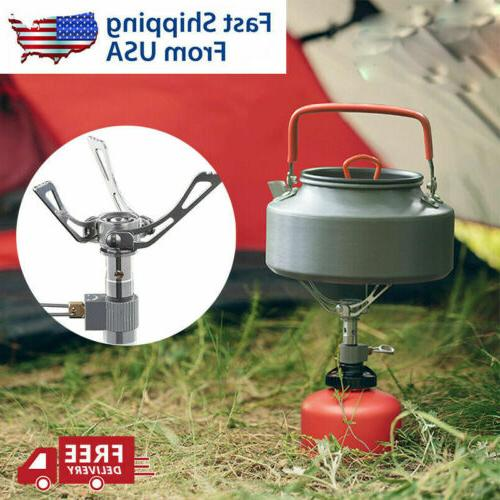 New Camping Stove Burner Gas Folding Mini Ultralight Outdoor