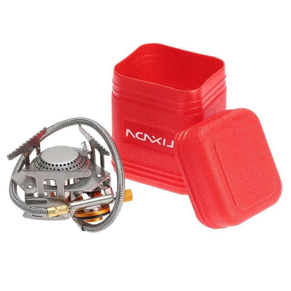 Mini Gas Cooking Burner Compact w/ Case Hiking