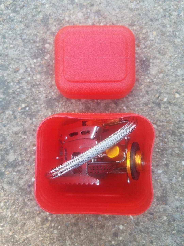 Mini Stove Gas Burner - Light Compact w/ Camping Hiking Y99