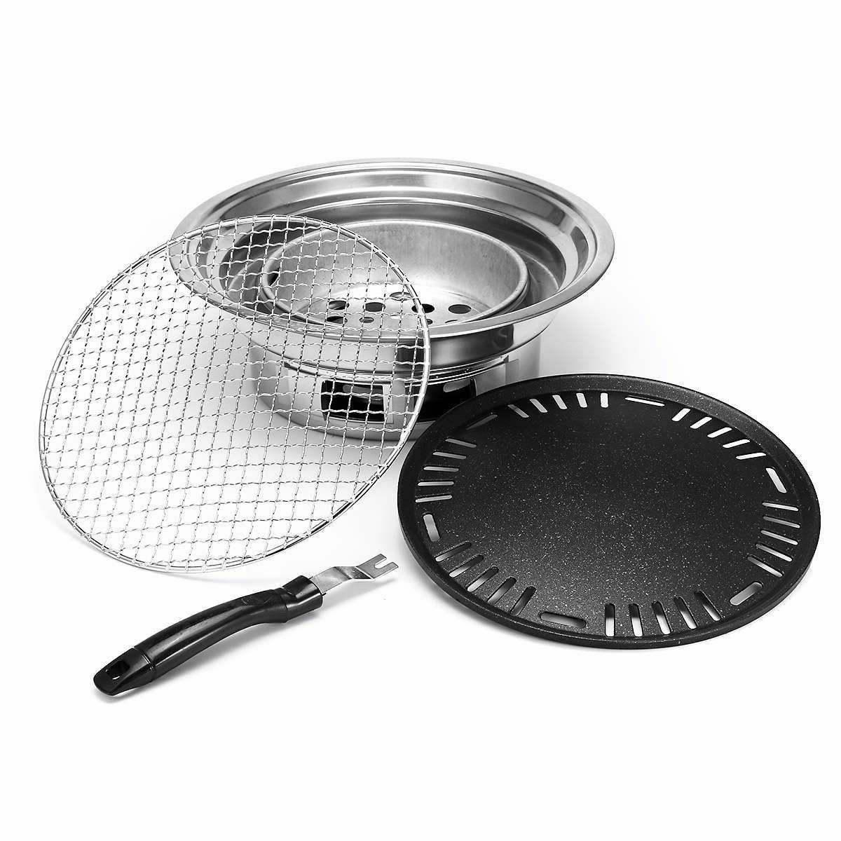 Non-stick Camping Charcoals Grills Stoves Korean Stainless New