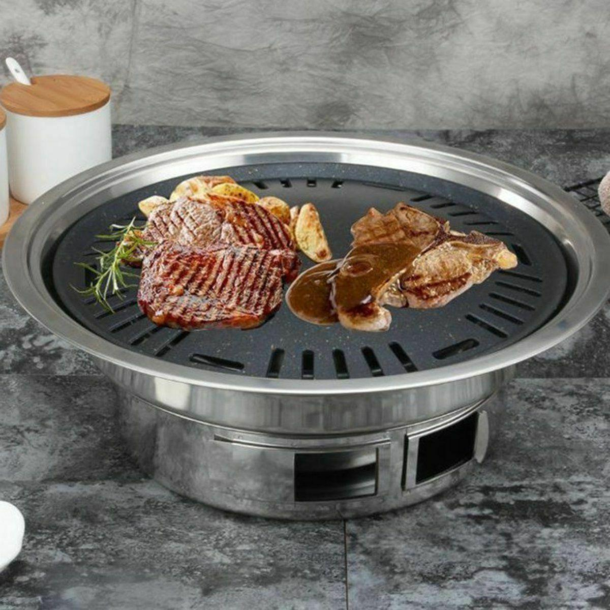 Non-stick Camping Tools Charcoals Grills Korean Stainless