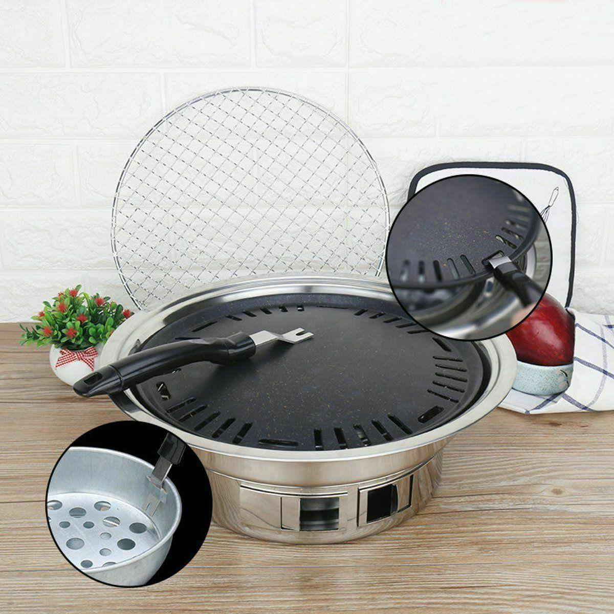Non-stick Camping Charcoals Grills Stoves Korean