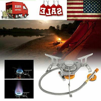 outdoor camping portable gas stove butane propane