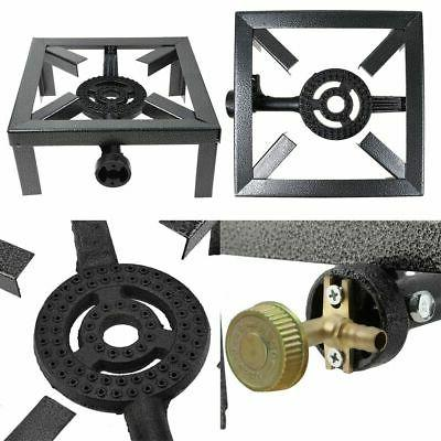 Outdoor Camping Gas Burner BBQ Stove Cast Iron Ring