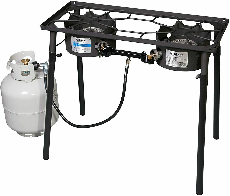 pioneer two burner propane stove