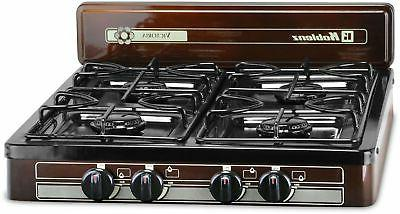 portable 4 burner propane gas stove top