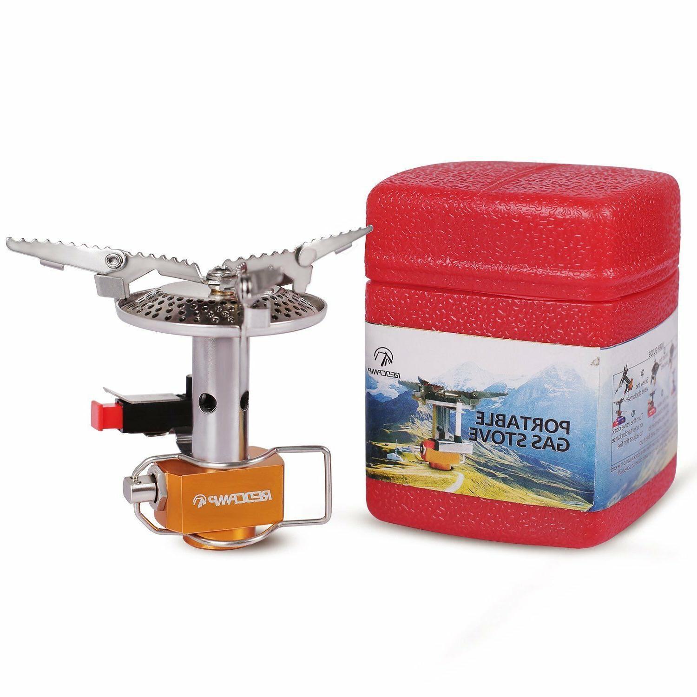 3500W Portable Outdoor Gas Burner Mini Steel Stove +Case