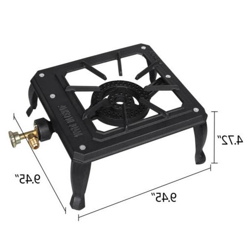 Portable Stove Single Burner Cast Iron Gas BBQ Cooker
