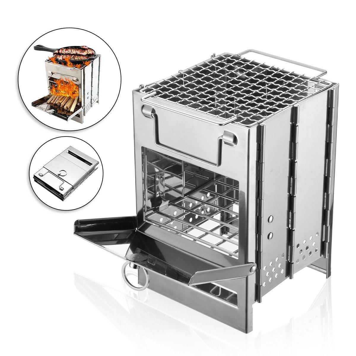Portable Wood Stove Outdoor Stainless
