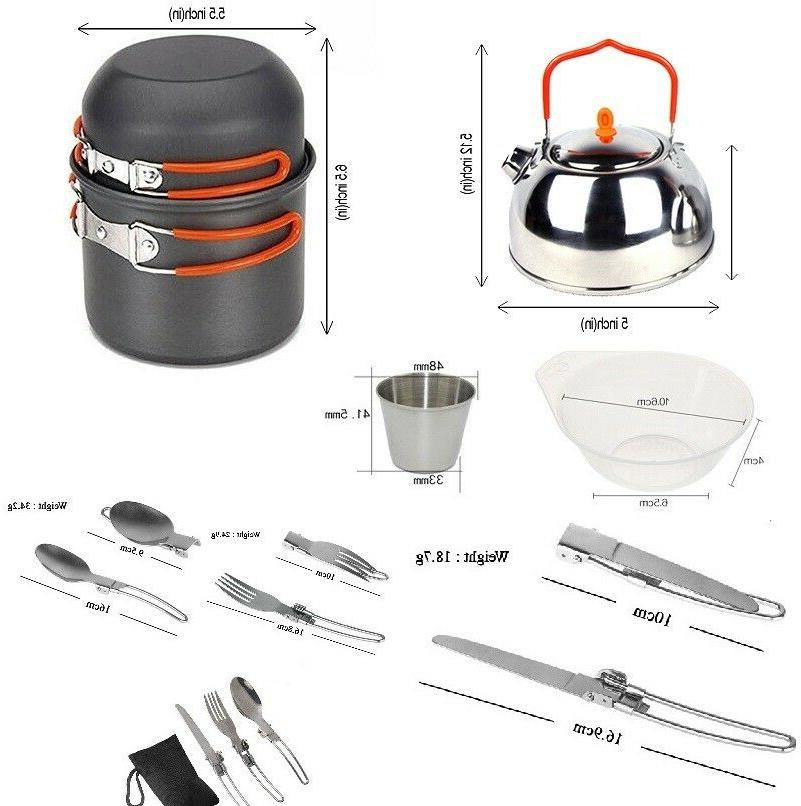Portable Camping Burner Outdoor Picnic+ Cookware accessories