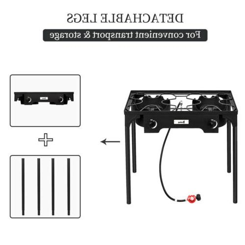 Portable 150,000-BTU Camp Stove BBQ