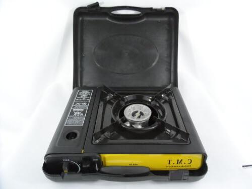 New Portable Single Burner Butane Gas Camping Stove w/ Hard