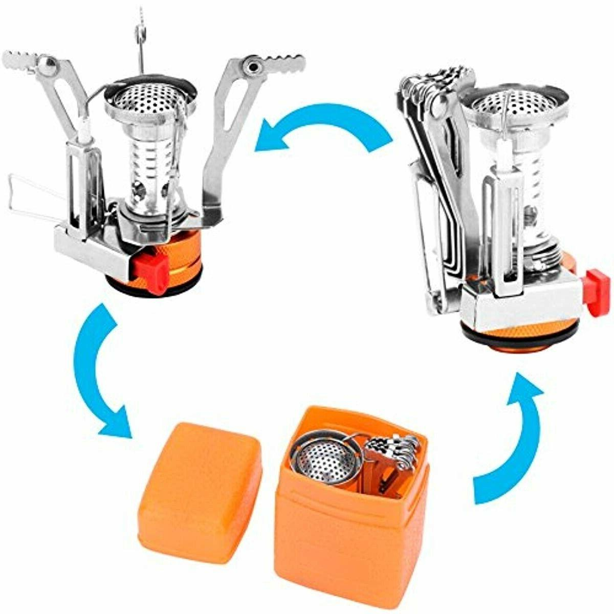 REEHUT Ultralight Portable Stoves Backpacking with Piezo