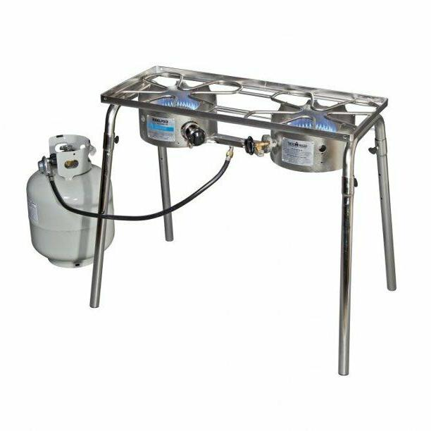 stainless explorer two burner stove