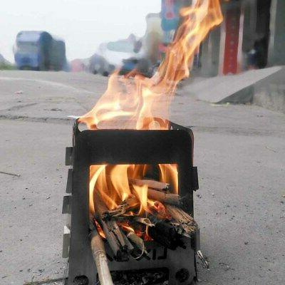 Stainless Stove Pocket Burning Camping Picnic