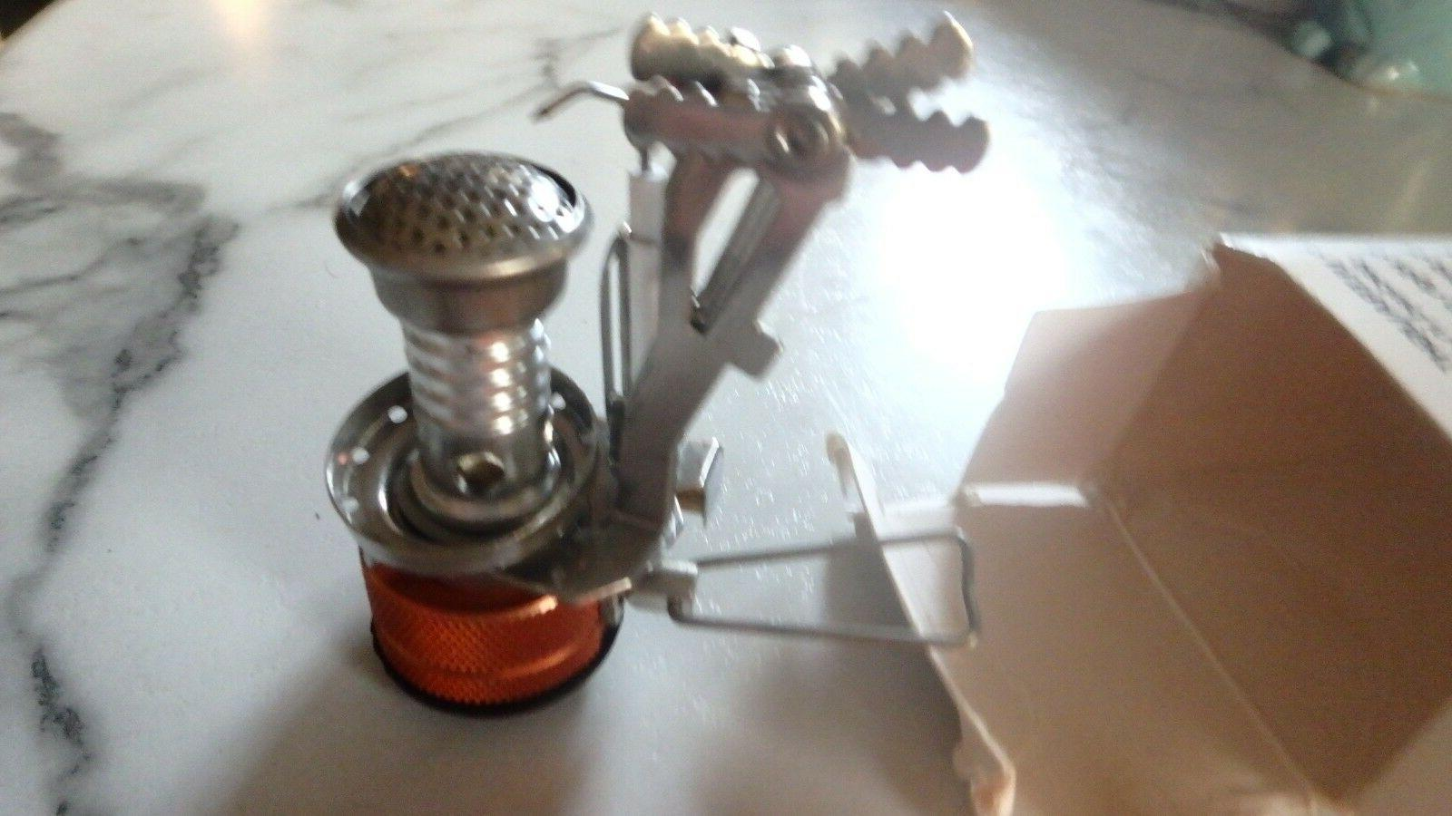 ultralight portable outdoor backpacking camping stove piezo