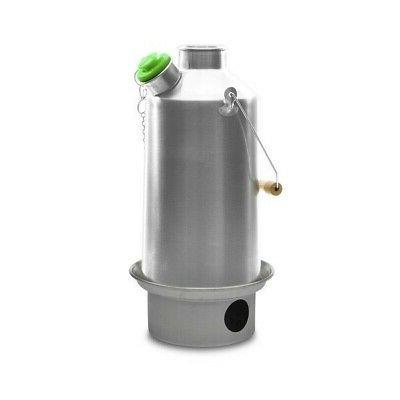 Kelly Kettle USA  - Large Stainless Steel Base Camp - Kelly