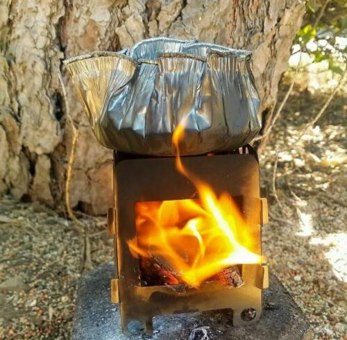 Wood Folding Stove Lightweight Camping