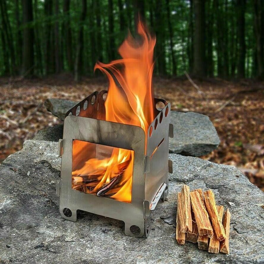 Wood Emergency Stove Camping Gear Hiking