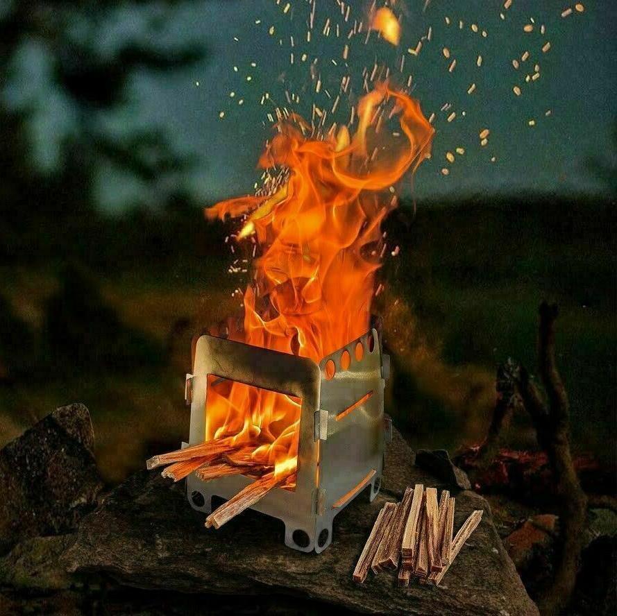 wood burning folding survival emergency stove lightweight