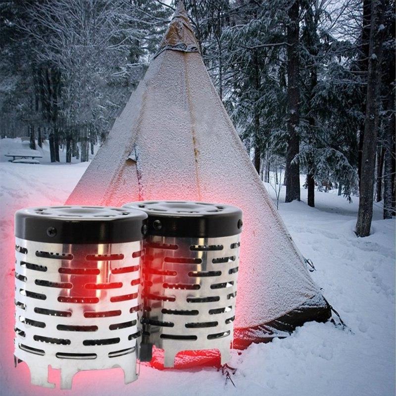 Portable Travel Camp <font><b>Stove</b></font> Wood Burning
