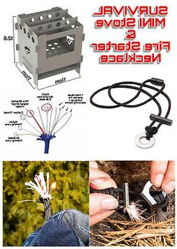 .Large Survival Dual Fuel Camping Stove & 11 Stand Fishing F