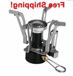 Lightweight Portable Hiking Camping Mini Stove Burner Gas Fu
