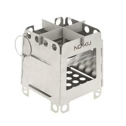Lixada Portable Stainless Folding Wood Pocket Stove Camping