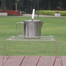 Mini Compact Charcoal Barbeque Grill Stainless Steel for Bac