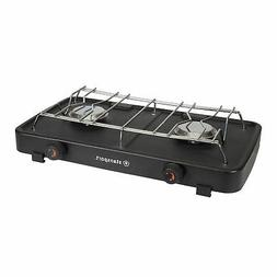 STANSPORT 8200 BTU DOUBLE BURNER REGULATED PROPANE CAMPING S