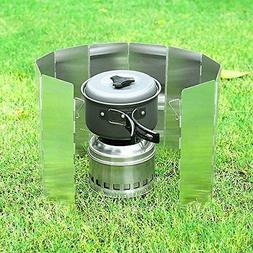 New Camping Stove Windshield Grill Camp Kitchen Outdoor Spor